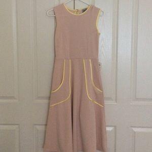Asos pink and yellow dress - midi